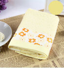 Flower Bamboo Fibre Washcloth children Bath Towel 70x140cm (3 Colors)
