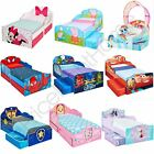 CHARACTER + DISNEY JUNIOR TODDLER BEDS WITH STORAGE + SHELF + MATTRESS OPTION