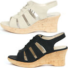 New Wedge Heels Sandals Summer Strap Lace up Womens Shoes