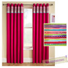 Pink Aztec Pattern Thermal Blackout Eyelet Ring Top Curtains in 5 Sizes Student
