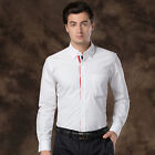 New Mens Luxury Formal Casual Business Long Sleeve Slim Fit Stylish Dress Shirts