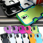 For Samsung Galaxy S5 Hybrid Aluminum Plated Lightning Cover Case w/ Screen Film