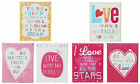 Retro Style Metal Tin Sign Assorted Love Themed Designs Pastel Colours NEW