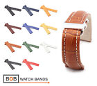 BOB Alligator Style Deployment Strap for Breitling, 20, 22, 24 mm, 11 colors!