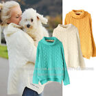 kn99 Celebrity Fashion Trendy Chunky Knitted Turtle Neck Cable Oversized Sweater