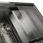 2015 New Stainless steel kitchen sink folding roller drainer tray roll mat color