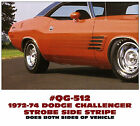 QG-512 1972-74 DODGE CHALLENGER - RALLY SIDE STROBE STRIPE - DECAL KIT