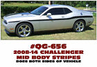 QG-656 2008-14 DODGE CHALLENGER - MID BODY SIDE STRIPE KIT - 70'S RETRO LOOK