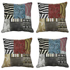 Scatter Box Tribal Patchwork Feather Filled Cushion