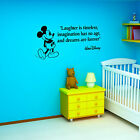 MICKEY MOUSE Laughter is timeless Walt Disney VINYL WALL ART STICKER QUOTE