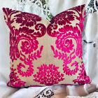 DESIGNERS GUILD FABRIC CUT VELVET CUSHION COVER OMBRIONE