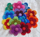 FAIR TRADE ELASTIC FLOWER FELT HAIR BAND ACCESORIES PONY TAIL HOLDER - 6 PACK