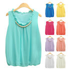 Hot Women Casual Chiffon Camisole Tank Shirt Sleeveless Slim Top Blouses T-Shirt