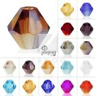 120pc Crystal Loose Spacer Beads For Bracelet Necklace  Bicone 4mm