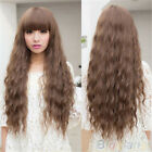 Vintage Fashion Womens Cosplay  Party Wigs Lady Long Curly Wavy Hair Full Wigs