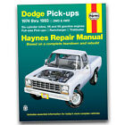 Haynes Repair Manual for Dodge D150 S Miser Base Shop Service Garage Book vg