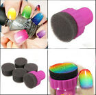Nail Art Stamp Stamper Shade Transfer DIY Tool Set Sponge Tips Gradient Sticker