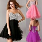 2014 New Homecoming Bridesmaid Prom Short Mini Gown Party Formal Evening Dress