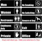 Stickers - Restroom Private Office Vinyl Sticker Self Adhesive Sign for Door