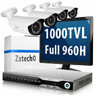 4 x 1000 TVL HD High Res Camera Full 960H DVR 200fps DIY Setup Surveillance Kit