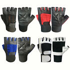 Weight Lifting Gloves Long Straps Wrist Support Padded Body Fitness Gym Training