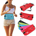 Travel Sport Waist Money Belt Zipped Passport Wallet Pouch Earphone Port Bum Bag