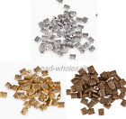 100Pcs New hot Retro Style Zinc Alloy Square Spacer Bead For Jewelry making