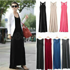 Sexy Women Ladies Long Causal Tank Sleeveless Jersey Slim Beach Maxi Vest Dress
