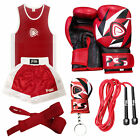 PRIME KIDS BOXING UNIFORM (TOP & SHORT) AGE 5-12 YEARS WITH BOXING GLOVES (1008)
