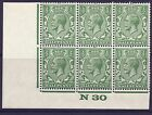 ½d Yellow Green Block Cypher spec N33-6 Control N30 imperf UNMOUNTED MINT/MNH