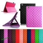 Flip PU Leather Rhombus Quilted Smart Case Cover Stand for Apple  iPad 2/3/4