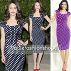 Womens Pinup Vintage Square Neck Bodycon Business Party Pencil Wiggle Dress