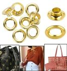 100pcs Gold Iron Eyelets Grommet with Washers for Banners Leathercraft Clothing