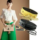 HOT Women's Snake Waist Tassel Leather Belt Adjustable Wide Waistband Waist Belt