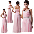 Vogue Long Pleated Chiffon Evening Formal Party Ball Gown Prom Bridesmaid Dress