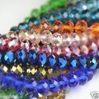 100PC FACETED RONDELLE Swarovski CRYSTAL GLASS BEADS 4x6MM PICK COLOUR