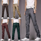 Hot Sell Fashion Mens Casual Stylish Slim Long Pants Trousers Slacks 8 Colors