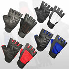 WEIGHT LIFTING LEATHER GLOVES SPORTS FITNESS BODY BUILDING TRAINING HOME GYM NEW