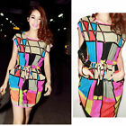 New Women Summer Multi-Color Sexy Casual Short Mini Evening Cocktail Party Dress