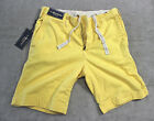 Polo Ralph Lauren Men Yellow  relaxed fit rugged cotton shorts size 30