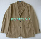 New $295 Polo Ralph Lauren Blazer Sportcoat Jacket Cotton Linen Khaki 44R 44L