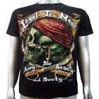 Pirate Crime Criminal Salior Skull Sword Gold Piercing Tattoo Mens T-shirt M & L