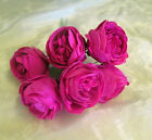 ARTIFICIAL FOAM PEONY ROSE Hot Pink WEDDING FLOWERS COLOUR FAST x 6 per bunch
