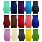 NEW LADIES KNOT FRONT JERSEY BOOBTUBE BANDEAU TUBE TOP SIZE 8-14 SM ML