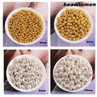 Round Gold Silver Plated beads Spacer Finding 4mm,6mm,8mm,10mm