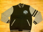 Black Charcoal Gray Long Sleeve Varsity Jacket ALL CHAMPS Varsity Jacket M-XL