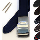 Mens Leather Watch Strap/Band - Clasp Fastening  and Spring Bars- Padded