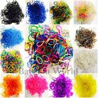 600PCS COLOURFUL RAINBOW RUBBER LOOM BANDS BRACELET DIY MAKING KIT WITH S-CLIPS