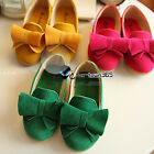 Spring Summer Baby Princess Child Kids Girl Candy Nubuck Bowknot Flat Soft Shoes