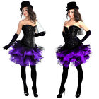 Purple Black TuTu Mini Skirt Burlesque Carnival Mardi Gras Party Hen Night Sexy
